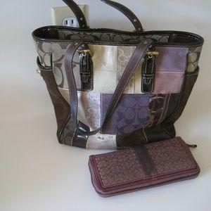 COACH patchwork purse & wallet